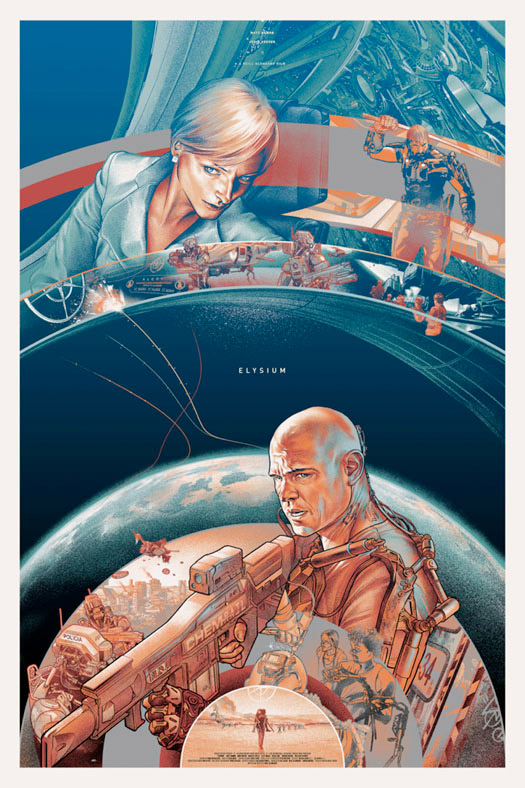Elysium Mondo Poster
