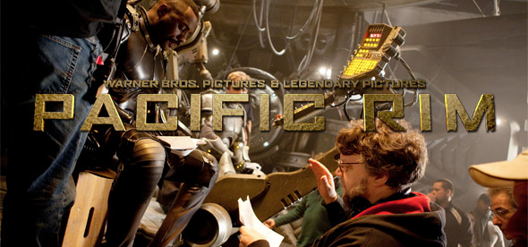 Guillermo del Toro & Idris Elba on the Pacific Rim Set