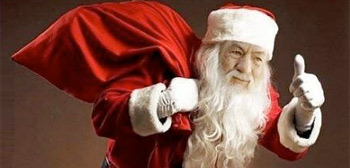 Gandalf Santa - Happy Holidays