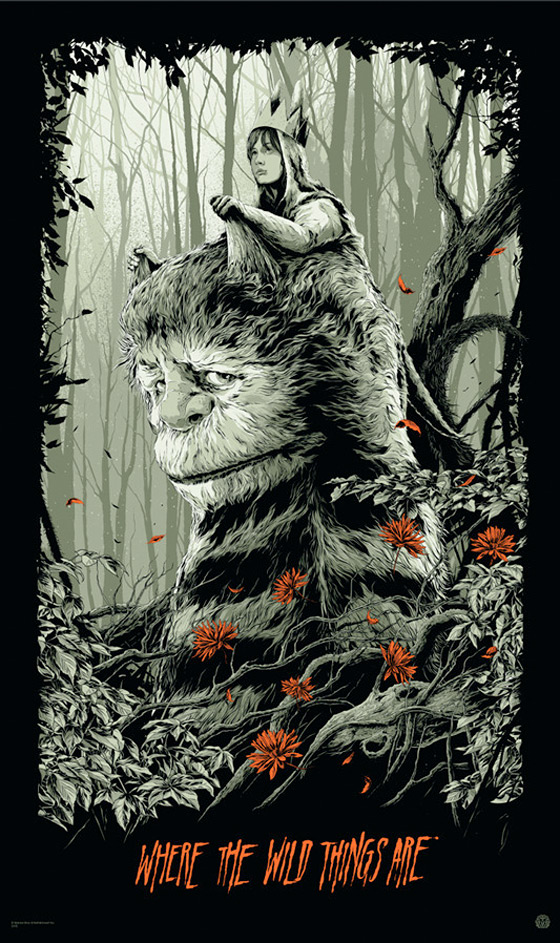 Where the Wild Things Are - Mondo Poster