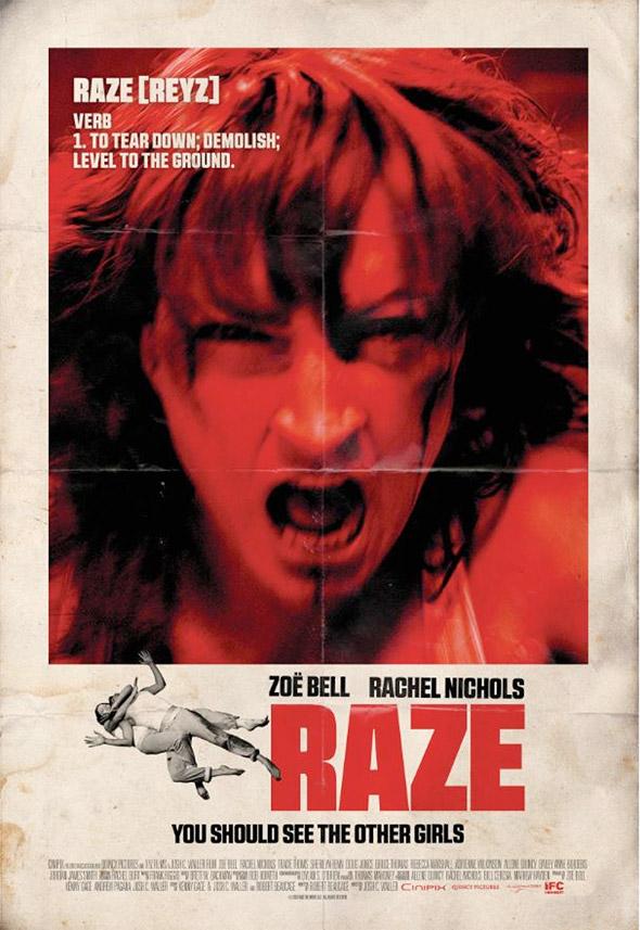 Zoe Bell's Raze Poster