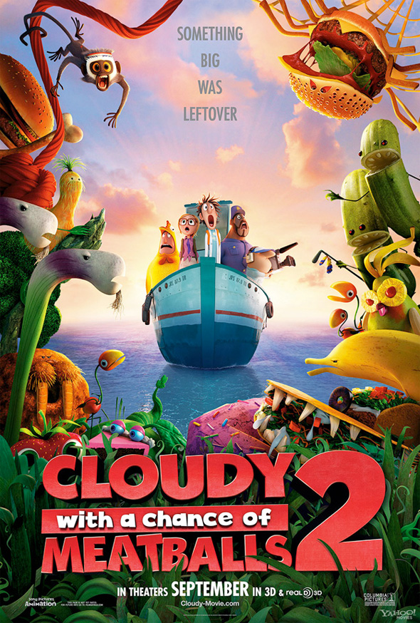 Cloudy with a Chance of Meatballs 2 - Teaser Poster