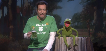 Jimmy Fallon and Kermit the Frog