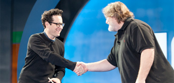 J.J. Abrams and Gabe Newell