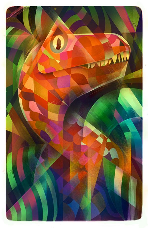 Jurassic Park - Dino-DNA Art