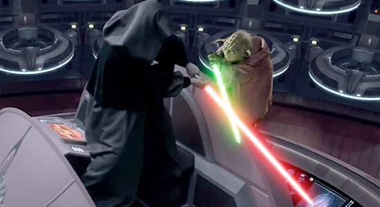 Star Wars - Yoda and Darth Sidious