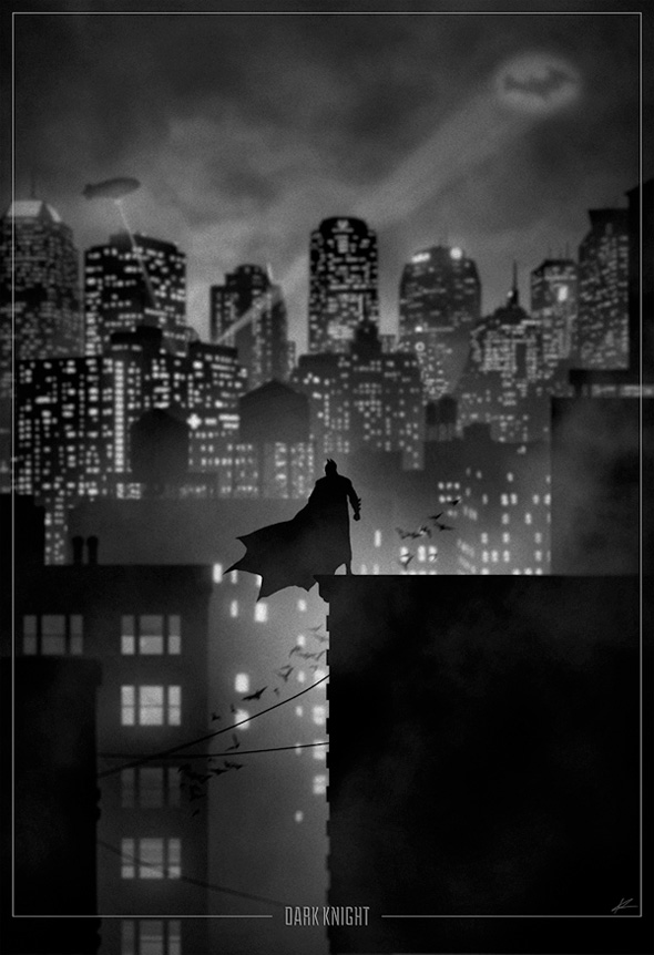 Superhero Noir - Batman