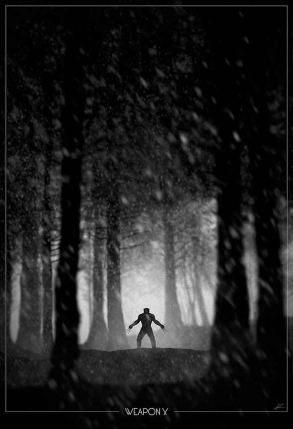 Superhero Noir - Wolverine