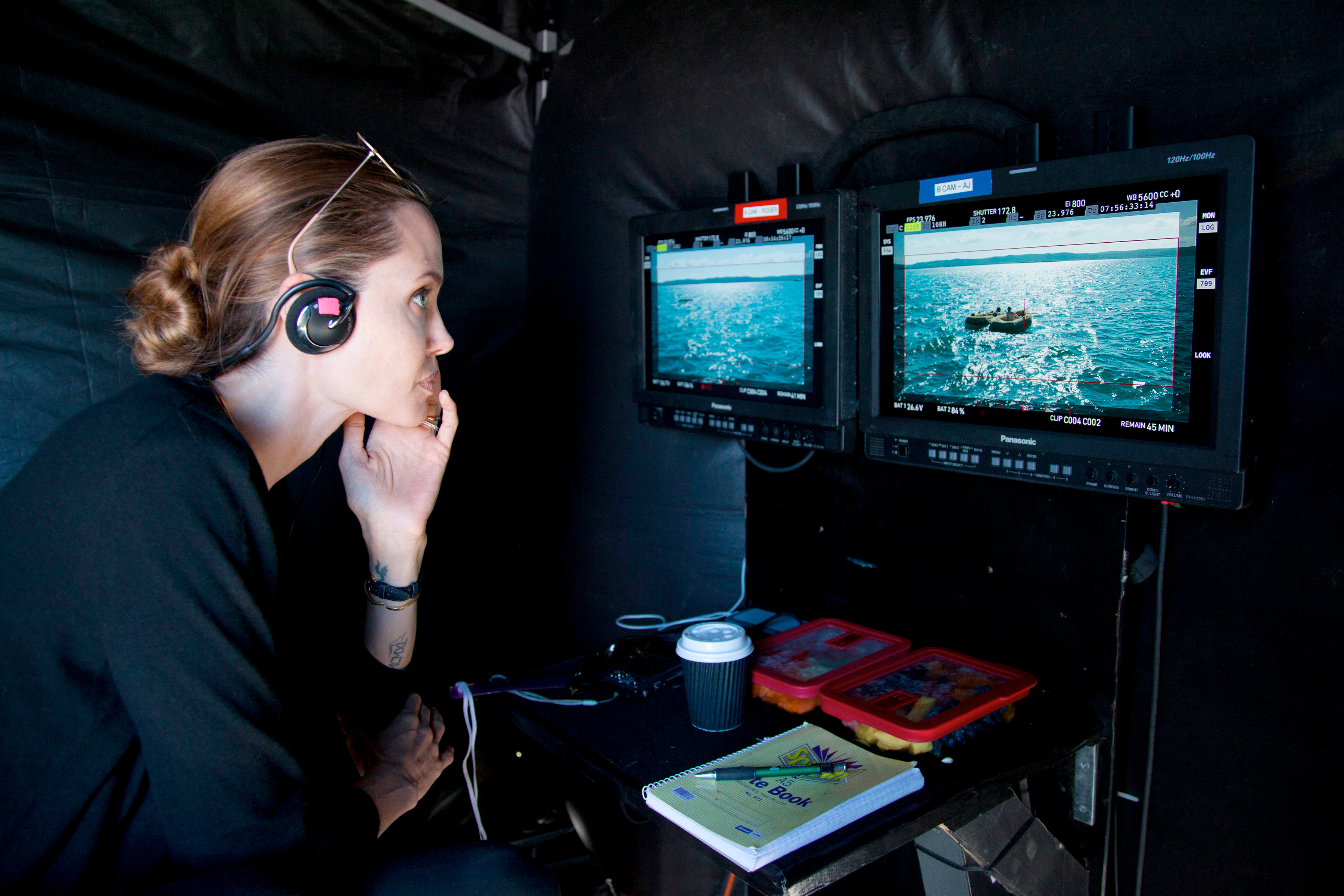 Angelina Jolie sur le tournage d'Invincible (Unbroken)