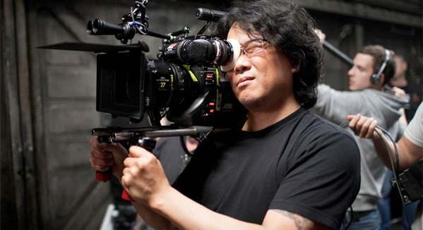 Bong Joon-ho on the Snowpiercer set