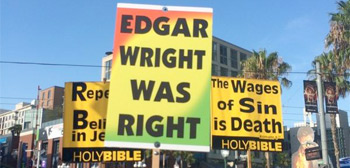 Edgar Wright Comic-Con Sign