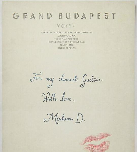 Grand Budapest Love Letter