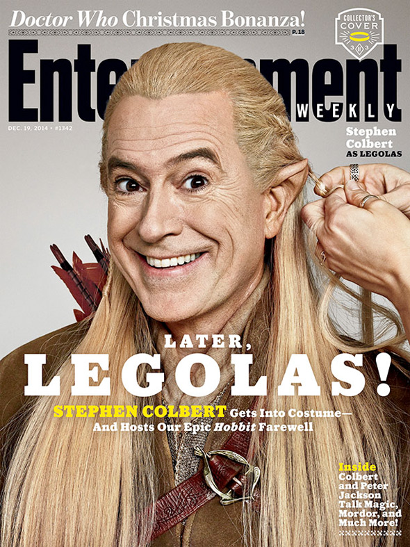 The Hobbit - Stephen Colbert EW Cover