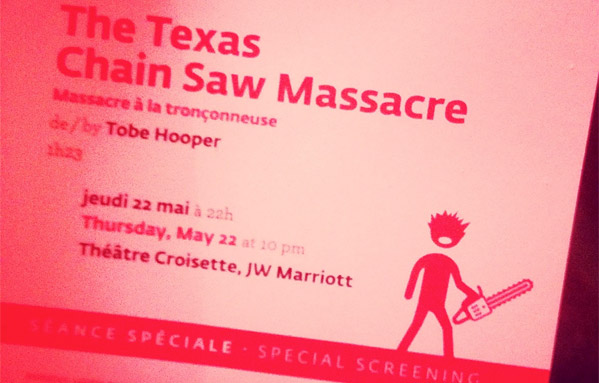 Texas Chain Saw Massacre Invite