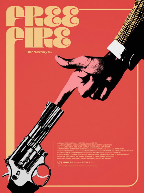 Free Fire Poster by Jay Shaw