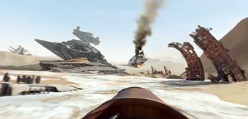 Jakku in The Force Awakens