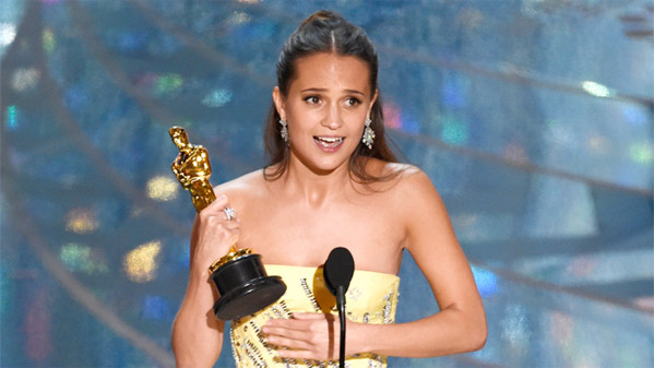 Winner: Alicia Vikander - Best Supporting Actress - The Danish Girl