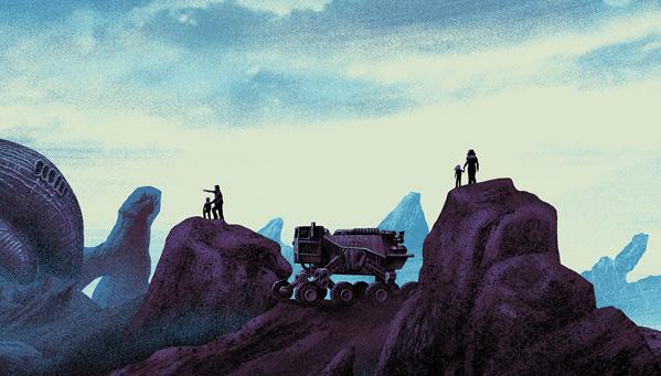 Mark Englert's Alien Day Artwork - Detail