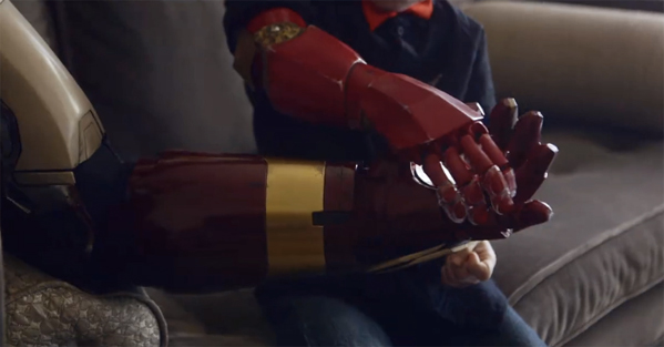 Robert Downey Jr. Delivers Iron Man Bionic Arm