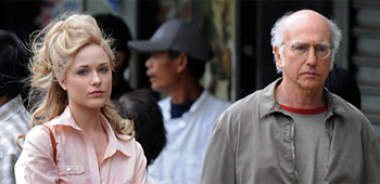 First Look: Evan Rachel Wood and Larry David in Woody Allen's Next