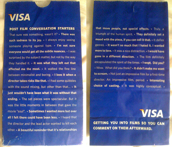 Visa's Post Film Conversation Starters