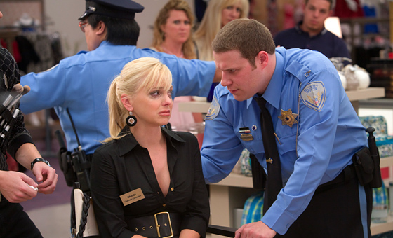 Seth Rogen and Anna Faris in Observe and Report