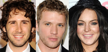 Josh Groban, Ryan Phillippe, Lindsay Lohan
