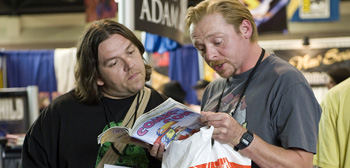 Nick Frost & Simon Pegg in Paul