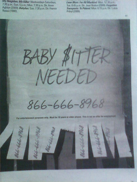 House of the Devil - Babysitter Wanted Ad