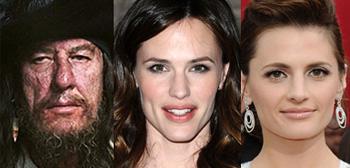 Geoffrey Rush as Barbossa, Jennifer Garner, Stana Katic
