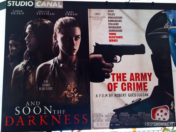 Cannes - Marcos Efron's And Soon the Darkness remake and Robert Guédiguian's The Army of Crime