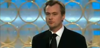 Christopher Nolan at the Golden Globes