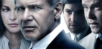 Pissed Off Harrison Ford on the Crossing Over Poster