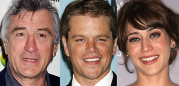 Robert De Niro, Matt Damon, Lizzy Caplan
