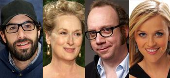 Sacha Baron Cohen, Meryl Streep, Paul Giamatti, and Reese Witherspoon