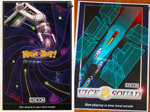Encom Arcade Game Postcards