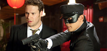Seth Rogen & Jay Chou in The Green Hornet