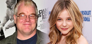 Philip Seymour Hoffman and Chloe Moretz