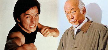 Jackie Chan / Mr. Miyagi