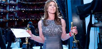 Kathryn Bigelow Holding Oscars