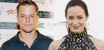 Matt Damon and Emily Blunt