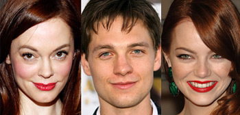 Rose McGowan, Emma Stone, Gregory Smith
