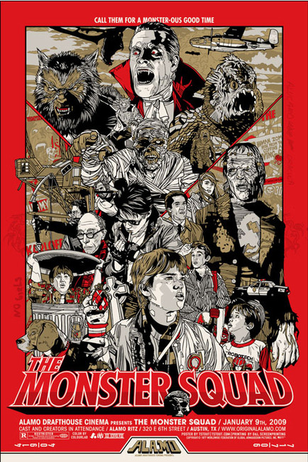 Monster Squad Tyler Stout Poster