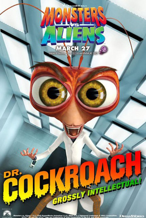 Monsters vs Aliens Poster - Dr. Cockroach