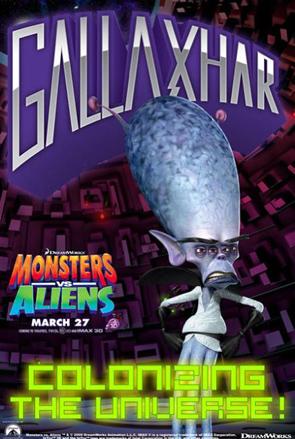Monsters vs Aliens Poster - Gallaxhar