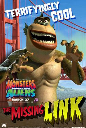 Monsters vs Aliens Poster - The Missing Link