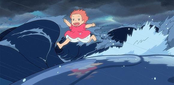 Hayao Miyazaki's Ponyo on the Cliff