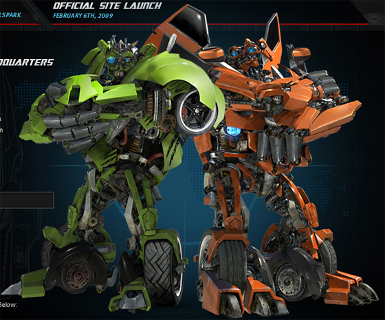 The Twins from Transformers: Revenge of the Fallen