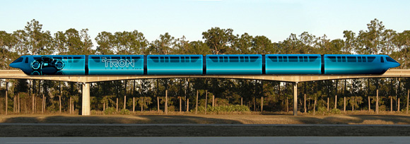 Tron Legacy Monorail at Disneyland