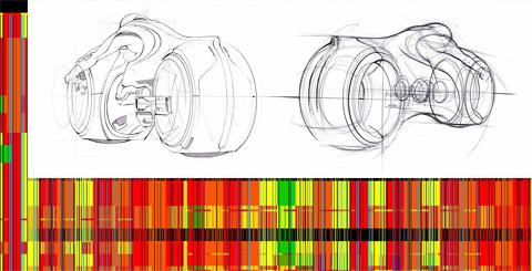Tron Legacy ARG - Lightcycle Sketch